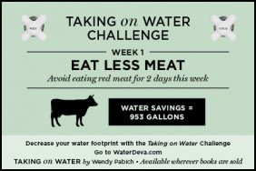 Taking On Water Challenge Week 1 Eat Less Meat